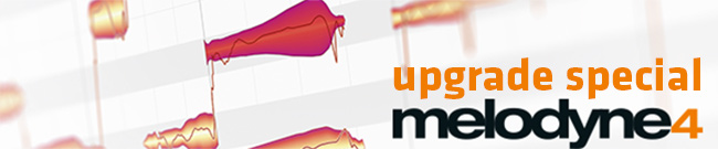 Banner Melodyne 4 Upgrade Special