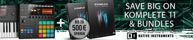 Banner Save Big on Komplete 11 and Upgrades