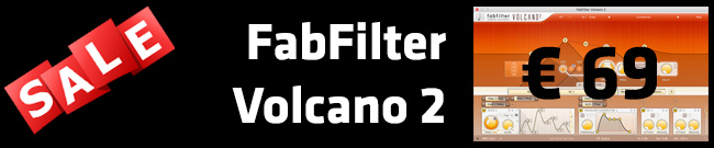 Banner FabFilter Volcano 2 Sale