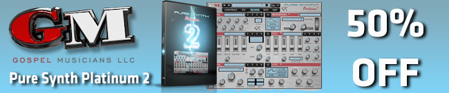 Banner GospelMusicians Pure Synth Platinum 2 - 50% OFF