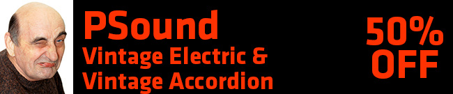 Banner PSound Vintage -Accordions and - Electric 50% OFF