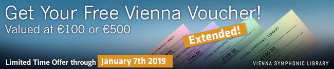 Banner Vienna Library: FREE voucher valued EUR 100 or EUR 500