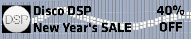 Banner Disco DSP New Year sale