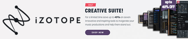 Banner iZotope Creative Suite offers