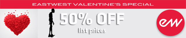 Banner East West Valentines Day Special 50% OFF