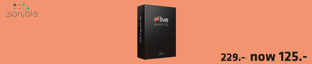 Banner Sonible Smart EQ Live  43% OFF