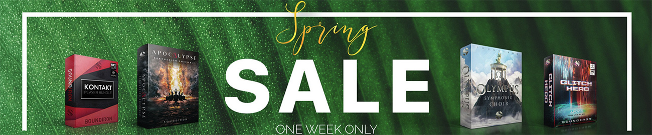 Banner Soundiron Spring Sale 33% OFF