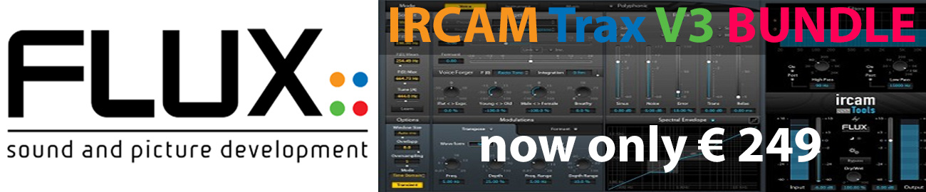 Banner Flux IRCAM Trax V3 BUNDLE discounted