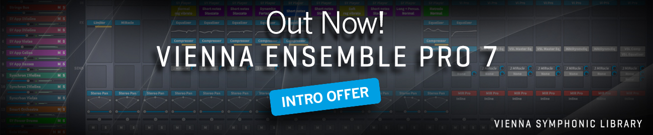 Banner VSL Vienna Ensemble Pro7 introductory offer