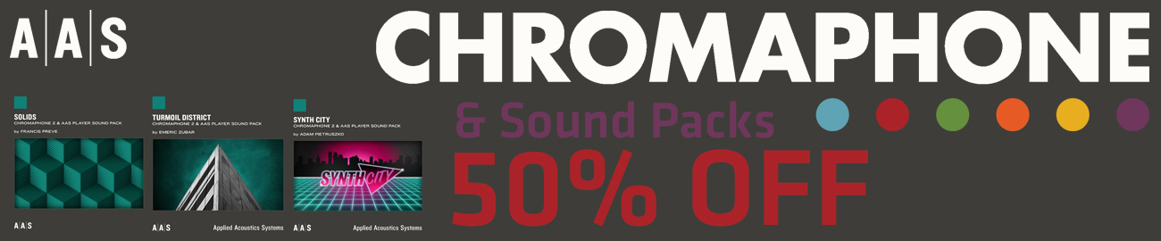 Banner AAS Chromaphone 2 - 50% OFF