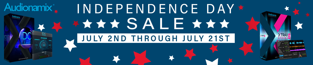 Banner Audionamix - Independence Day Sale