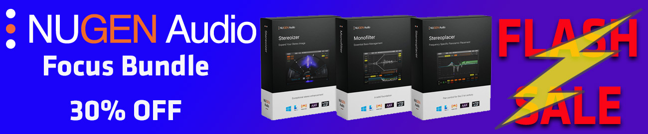Banner NUGEN Audio - Focus Bundle 30% OFF