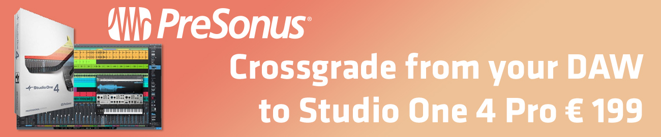 Banner Presonus StudioOne 4 Crossgrade Offer