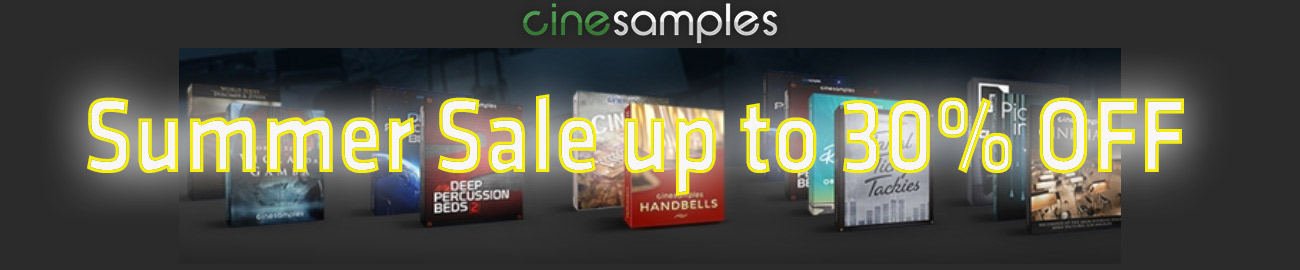 Banner Cinesamples Summer Sale up to 30% OFF