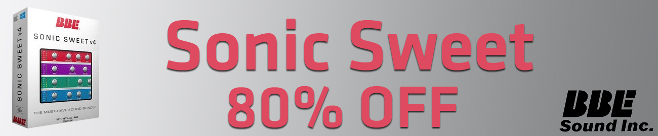 Banner BBE Sonic Sweet 80% OFF