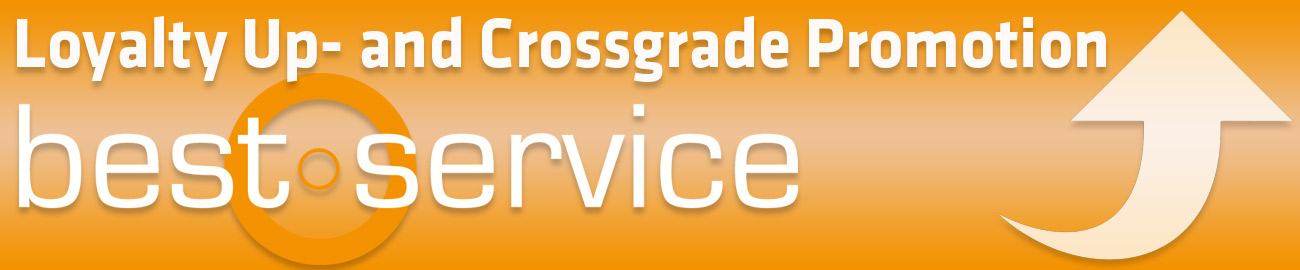 Banner Best Service Loyalty Upgrade- Crossgrade Promotion
