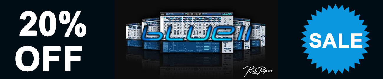 Banner Rob Papen - Blue II August Sale