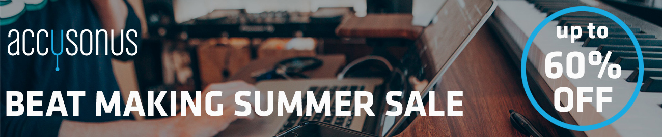 Banner accusonus Beat Making Summer Sale