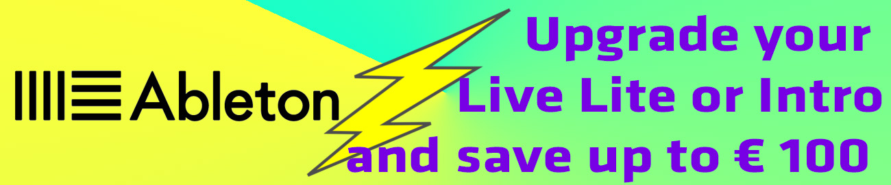 Banner Ableton Live upgrade promotion