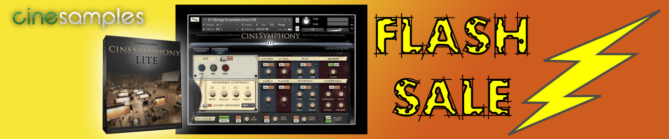 Banner Cinesamples CineSymphony Lite - Flash Sale