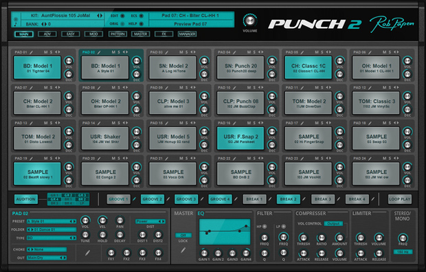 Punch 2 GUI Screen